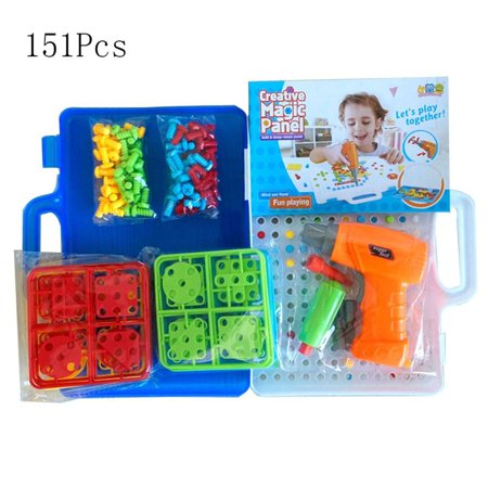 Children's Brain Development Building Block Games Set With Toy Drill&Toolset - image 2 of 6