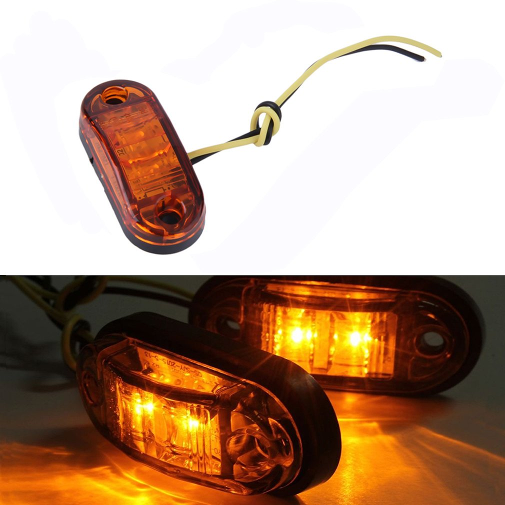 1pc Piranha LED Side Marker Blinker Light Lamp For Car Truck Trailers 12/24V