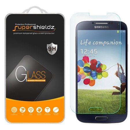 [1-Pack] Supershieldz for Samsung Galaxy S4 Tempered Glass Screen Protector, Anti-Scratch, Anti-Fingerprint, Bubble