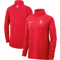 Houston Rockets Nike Women's Element Performance Raglan Sleeve Half-Zip Pullover Jacket - Red
