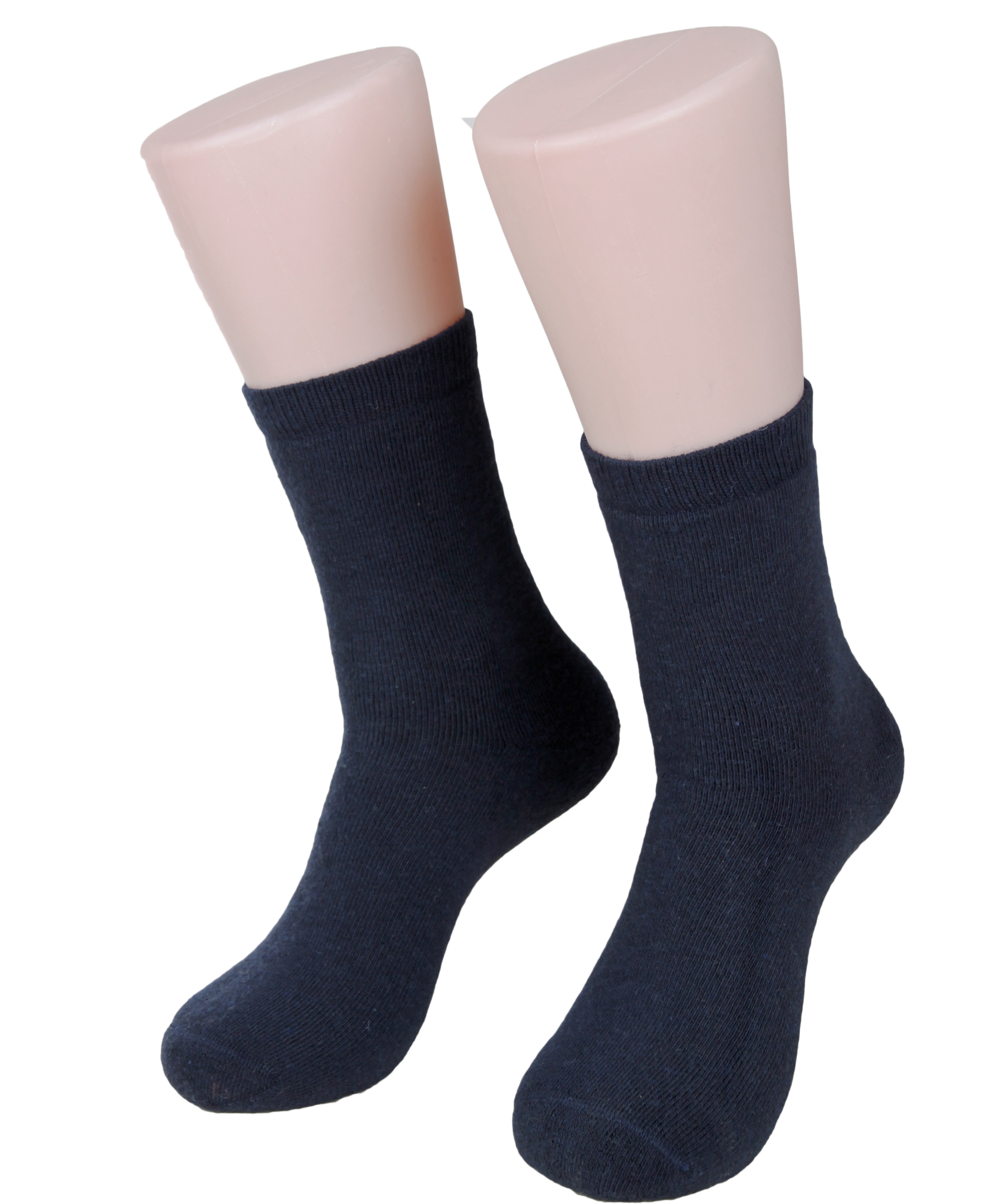 Lian LifeStyle Women's 4 Pairs Thick Wool Blend Crew Socks Boot Socks Size 8-11(Assorted)