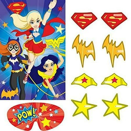 DC Super Hero Girls Party Game Poster (1ct) - Girl Superhero Games