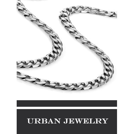 Classic mens necklace 316l stainless steel silver chain color 6mm classic mens necklace 316l stainless steel silver chain color 6mm width 18 inches walmart aloadofball Image collections