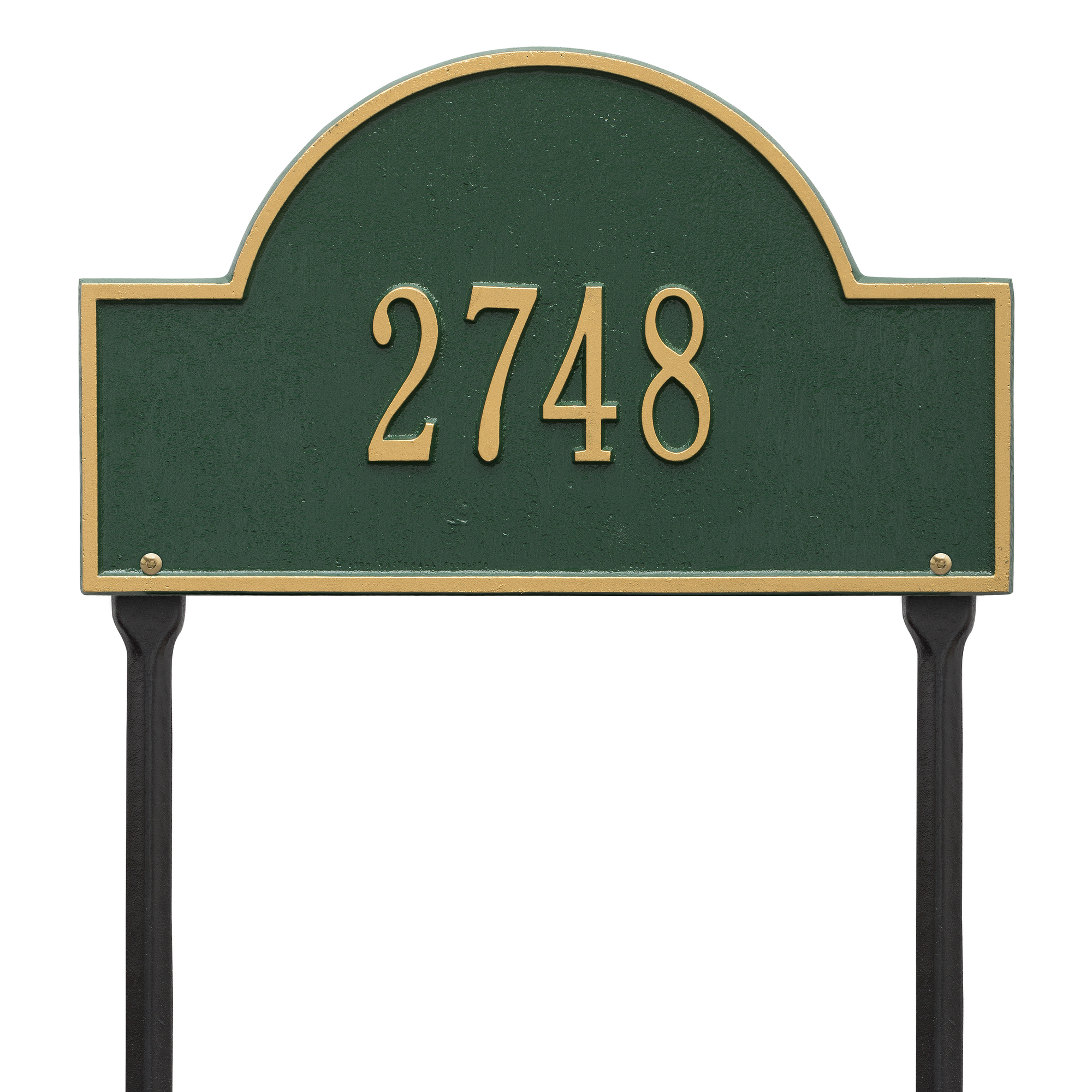 Personalized Whitehall Products 15-Inch Arch Marker Address Plaque in Green Gold by Whitehall