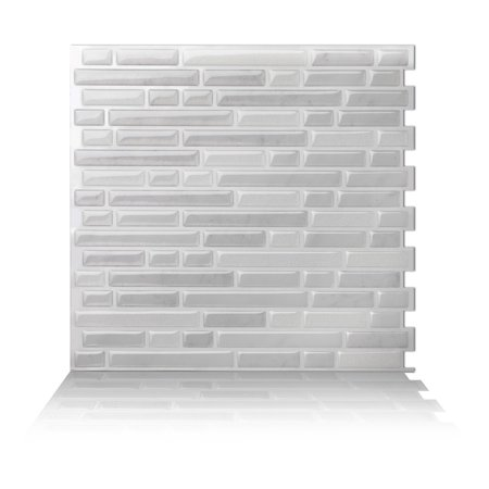 Tic Tac Tiles - Premium Anti Mold Peel and Stick Wall Tile Backsplash in Como (Ceramic Tile Molds)