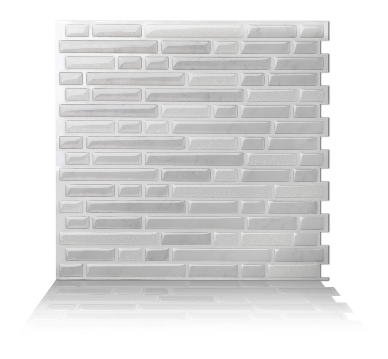 Tic Tac Tiles - Premium Anti Mold Peel and Stick Wall Tile Backsplash in Como White