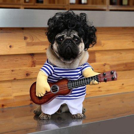 Funny Pet Guitar Clothes Dog Guitarist Dressing Costume Pet Guitar Dress - image 8 of 9