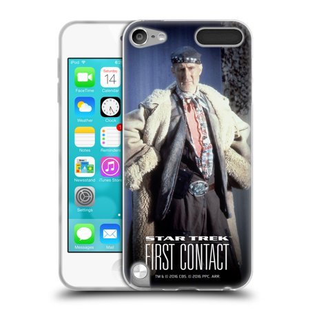 OFFICIAL STAR TREK ZEFRAM COCHRANE FIRST CONTACT TNG SOFT GEL CASE FOR APPLE IPOD TOUCH MP3](Costume Contact)
