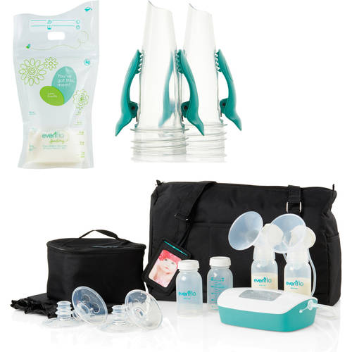 Evenflo Advanced Deluxe Double Electric Breast Pump with Bonus Milk Storage Bags & Adapters