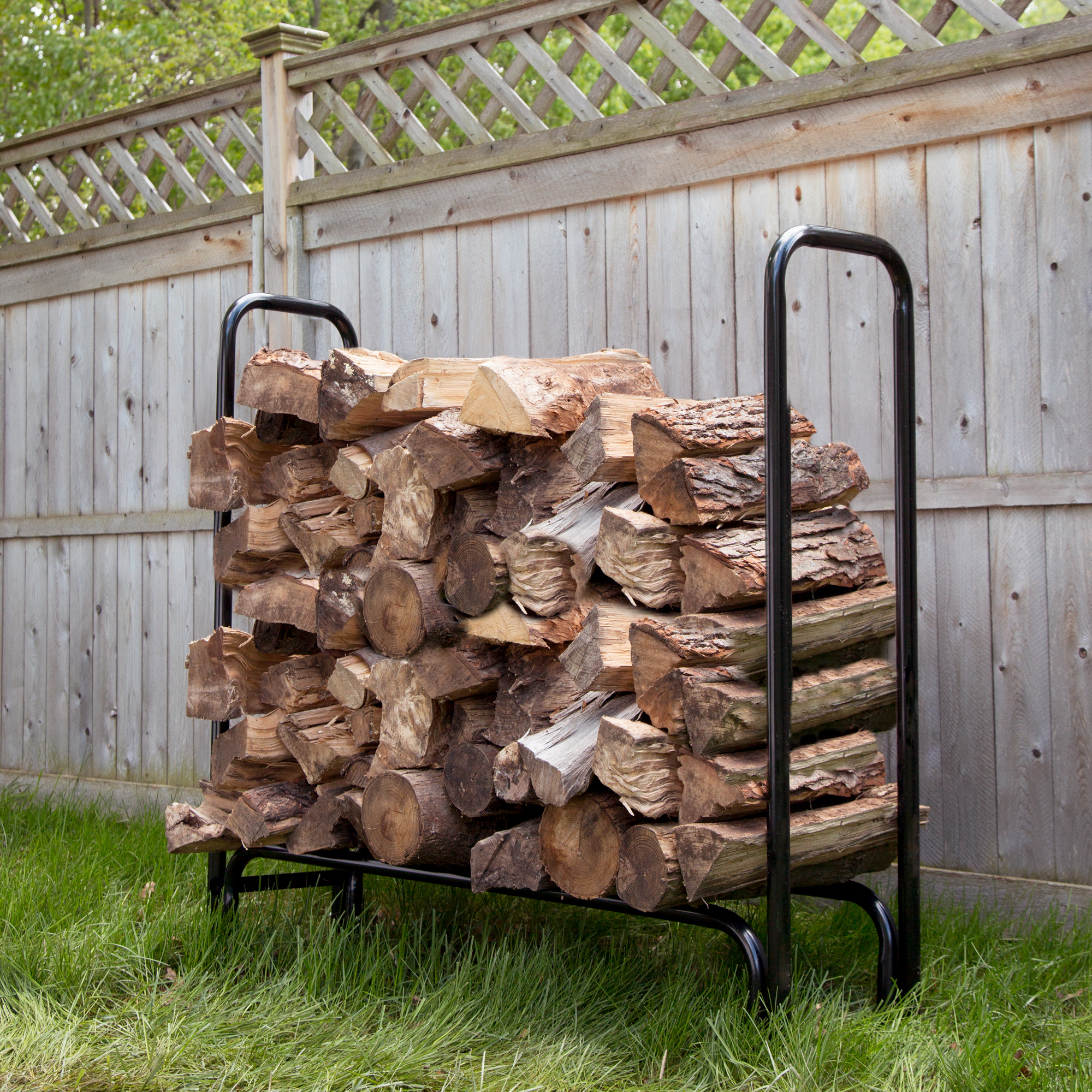 4 Foot Firewood Log Rack by Pure Garden by Trademark Global LLC