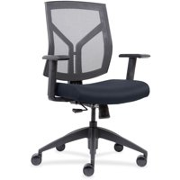 Lorell, Mid-Back Chairs wth Mesh Back & Fabric Seat, 1 Each