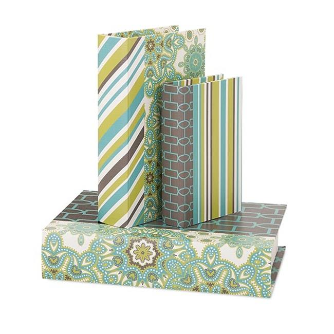 IMAX Essentials Reflective Book Boxes - Set of 3