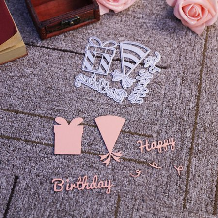 Birthday Theme Carbon Steel Cutting Dies Set Knife Mold Stencils DIY Scrapbooking Die Cuts Decor Crafts Embossing Templates Art Cutter - image 2 of 6