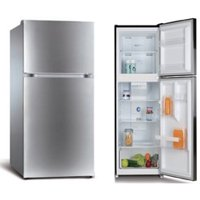 RCA - 10 Cu Ft Top-Freezer Apartment-size Refrigerator - Stainless