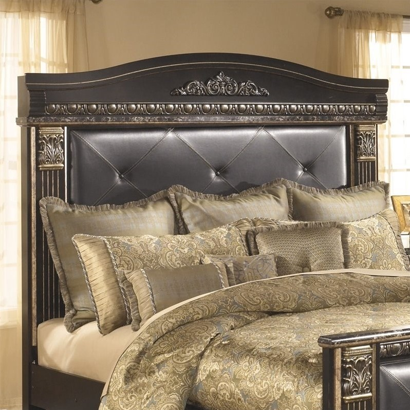 Ashley Coal Creek Upholstered King Panel Headboard in Dark Brown by Ashley Furniture