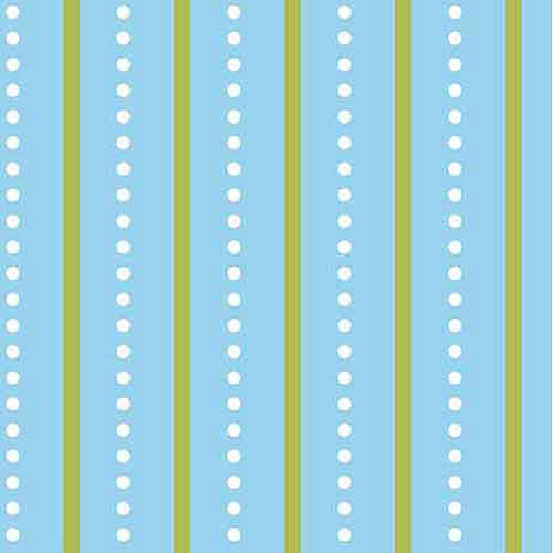 Springs Creative Nursery Bright Owl Dot Stripe Fabric by the Yard