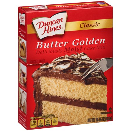 (2 Pack) Duncan Hines Classic Butter Golden Cake Mix, 15.25 (Best Butter Pecan Cake Recipe)