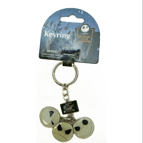Disney Nightmare Before Christmas 3 Expressions Jack Key Ring