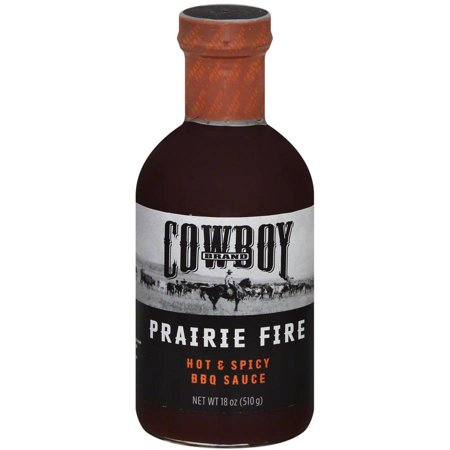 Cowboy Charcoal Fire & Hot Spicy Bbq Sauce, 18 oz, (Pack of