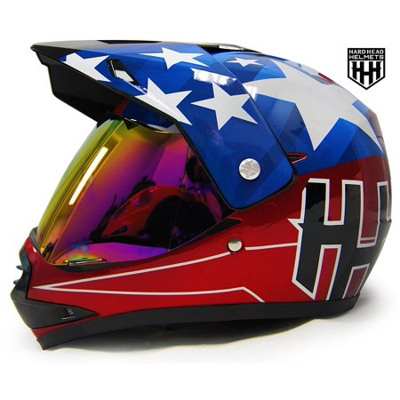 HHH DOT Youth & Kids Helmet for Dirtbike ATV Motocross MX Offroad Motorcyle Street bike Snowmobile Helmet with VISOR (Small, USA) ()