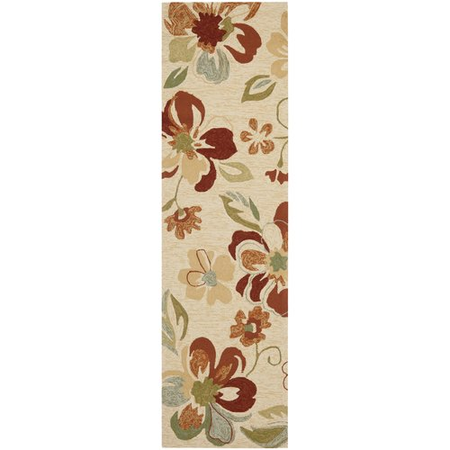 Safavieh Four Seasons Beige/Red Outdoor Area Rug