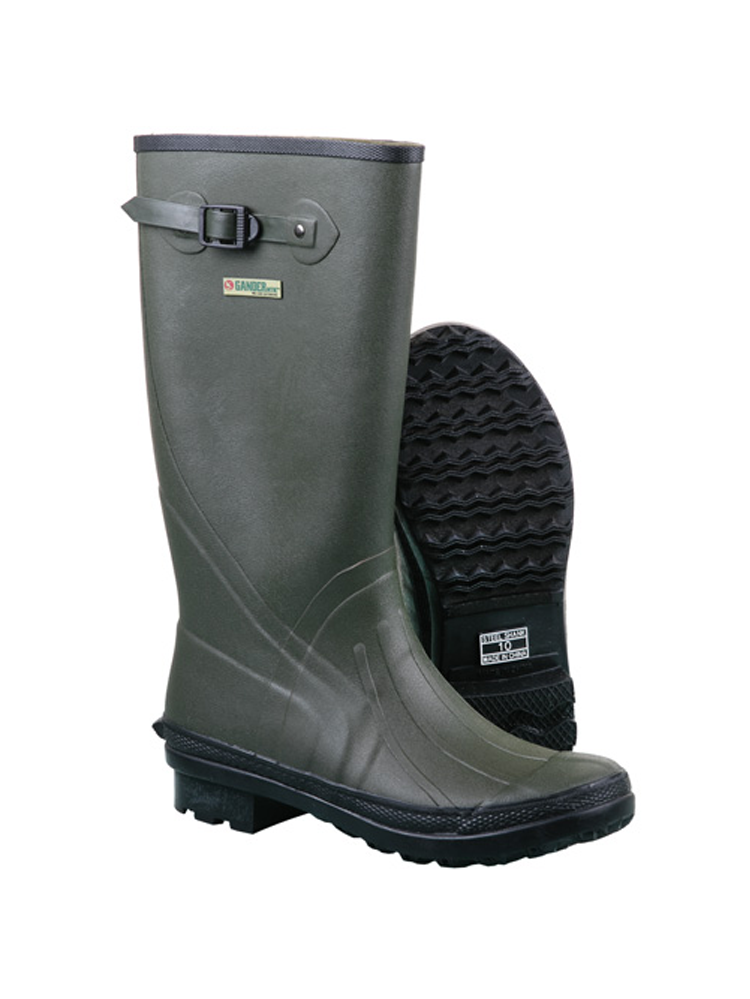 "Itasca WET TREK Mens Waterproof 14"" Green Rubber Farm Rain Boots by Itasca"