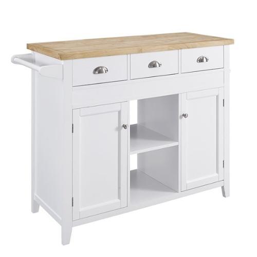 linon sheridan kitchen island in white walmart com kitchen island wood white linon home decor target