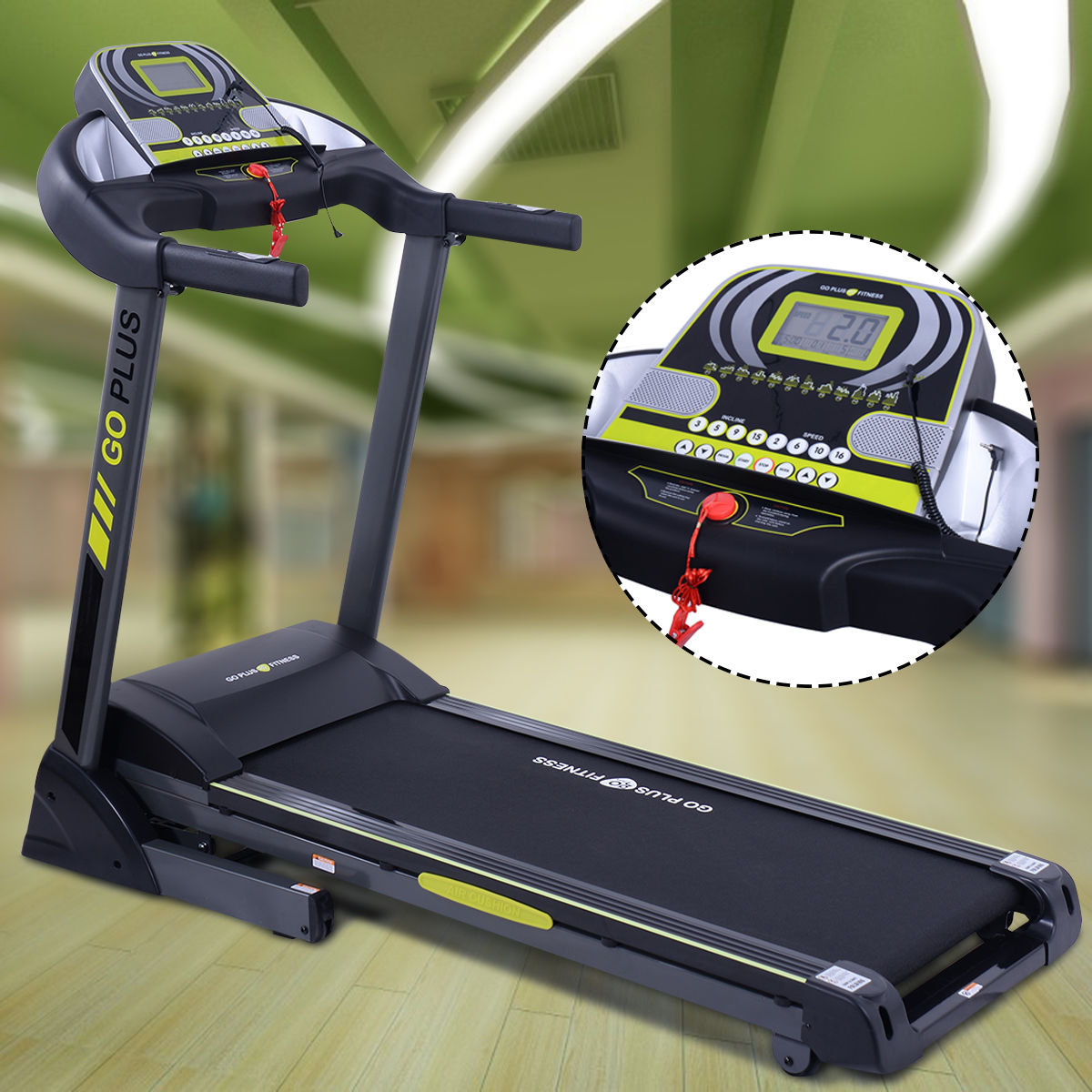 2.5HP Folding Treadmill Electric Support Motorized Power Running Fitness Machine