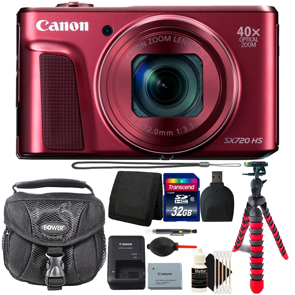 Canon PowerShot SX720 HS 20.3MP Wifi Enabled Digital Camera and 32GB Accessory Kit