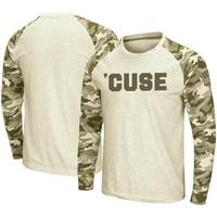 Syracuse Orange Colosseum OHT Military Appreciation Desert Camo Raglan Long Sleeve T-Shirt - Oatmeal