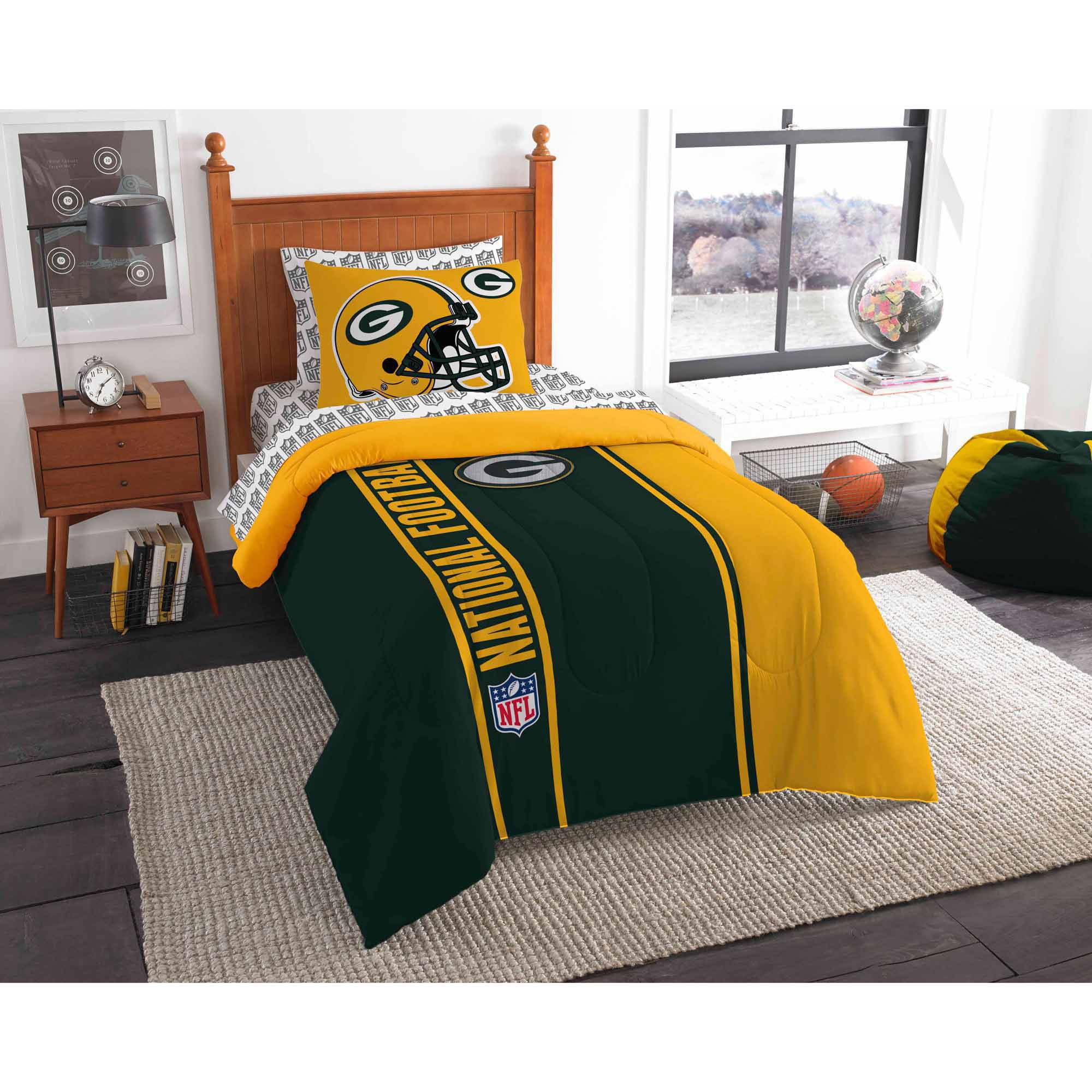 Nfl Green Bay Packers Soft And Cozy Bed In A Bag Complete Bedding Set