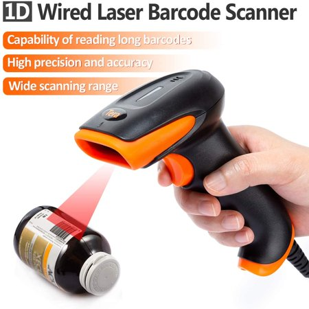 Tera Barcode Scanner USB Wired Handheld Linear Bar Code Scanner Reader Laser 1D Barcode Reader Plug and Play - image 4 of 4