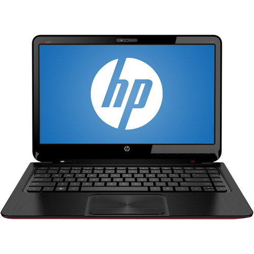 "HP Brushed Aluminum in Midnight Black with a Red soft-touch base 15.6"" Envy Sleekbook NV6-1110US Laptop PC with AMD Quad-Core A8-4555M Accelerated Processor and Windows 8 Operating System"