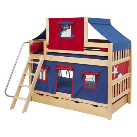 Hot Hot Twin Over Twin Deluxe Tent Bunk Bed