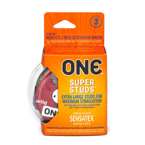 (4 Pack) ONE® Super Studs Condom 3pk