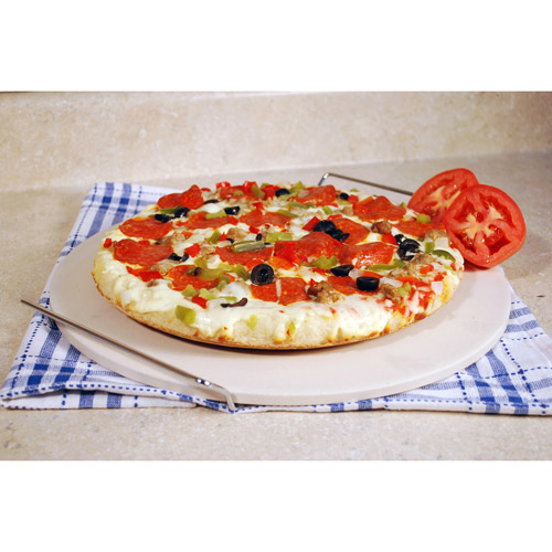 "Cook Pro 15"" Ceramic Pizza Stone by OVERSEAS CONNECTION INC"