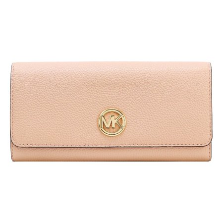 e86fa9f2bb99 Michael Kors - Michael Kors Signature Fulton Flap Continental Leather  Carryall Wallet