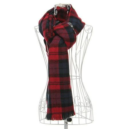 Lady Women Large Tartan Scarf Wrap Shawl Neck Stole Warm Blanket Scarf - Clearance - image 2 de 4