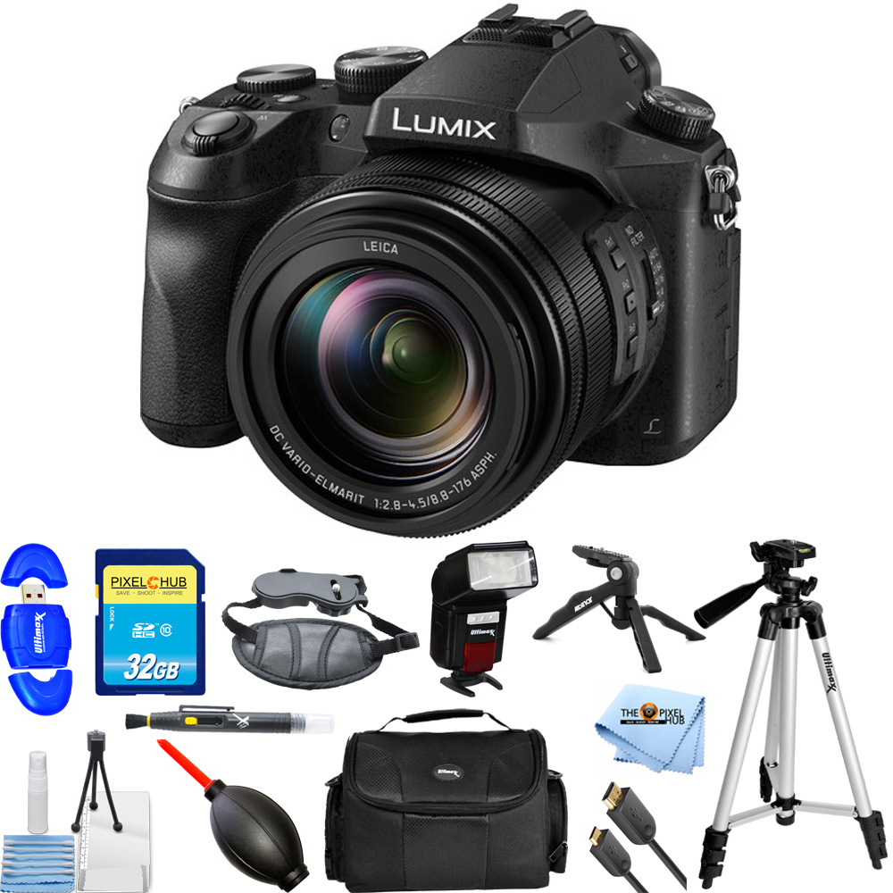 Panasonic Lumix DMC-FZ2500 20.1MP Digital Camera (Black) PRO BUNDLE