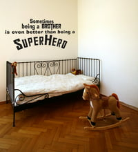 Superhero Brother Vinyl Wall Quote Decal Kids Room Decor Superhero Saying J246