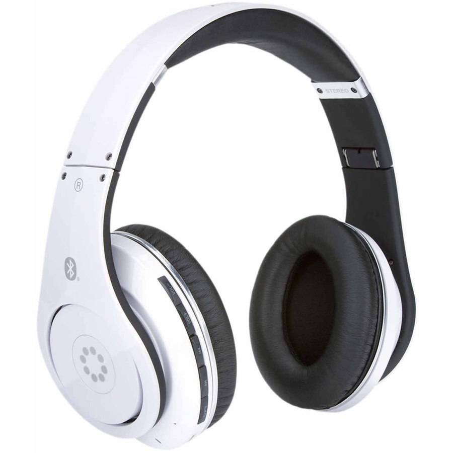 Memorex Bluetooth Wireless Headphones, White
