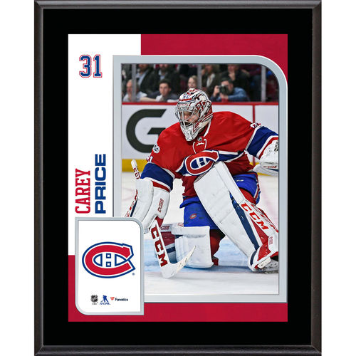 "Carey Price Montreal Canadiens 10.5"" x 13"" Sublimated Player Plaque - No Size"