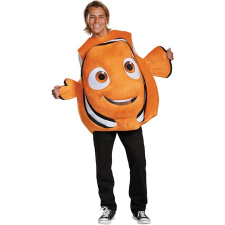 Nemo Fish Adult Halloween Costume, One Size, - Fish Costume Patterns