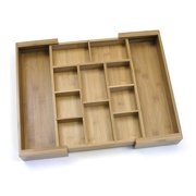Lipper Bamboo Expandable Organizer with 6 Removable Dividers