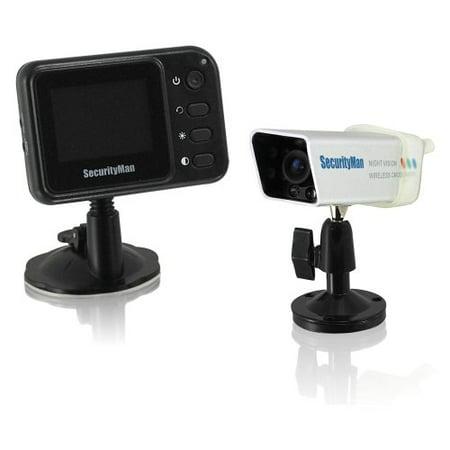 SecurityMan PalmCam Weatherproof Portable Wireless Rearview Camera System - Mace Weatherproof Microphone