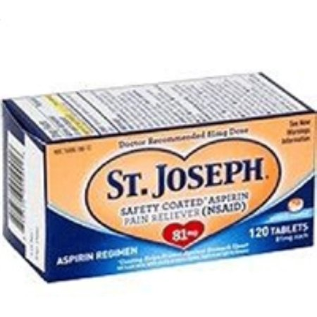 120 Enteric Coated Tablets - St. Joseph Enteric Coated Aspirin 81mg 120 Tablets (Pack of 2)