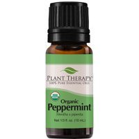 Plant Therapy Peppermint Organic Essential Oil | 100% Pure, USDA Certified Organic, Undiluted | 10 milliliter ( ounce)