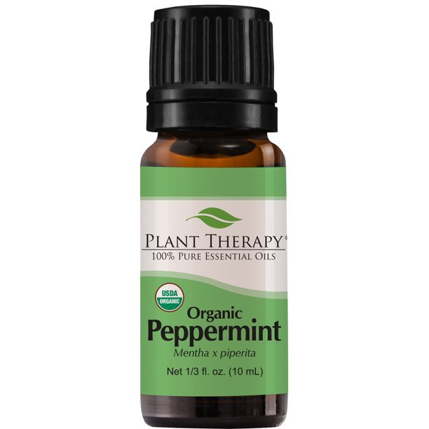Plant Therapy Peppermint Organic Essential Oil | 100% Pure, USDA Certified Organic, Undiluted | 10 milliliter (⅓ ounce)