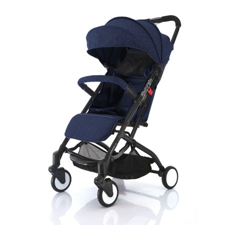 Babyroues Roll & Go Stroller, Blue /Black Frame