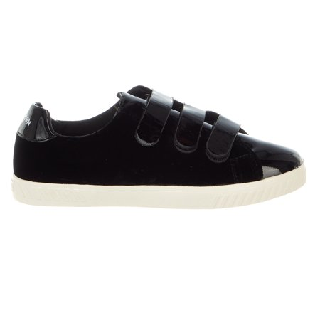 Black Patent Leather Girls Shoes (Tretorn Women's Carry 4 Velvet Patent Leather Nero / Black Ankle-High Fashion Sneaker -)